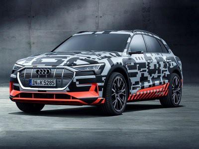 Audi показала изображение электрического кроссовера E-Tron