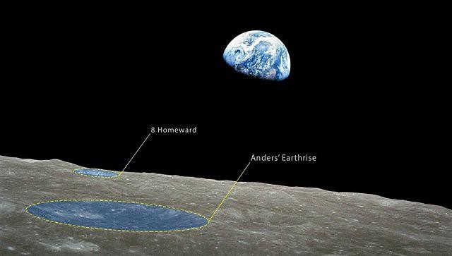 """Два кратера на Луне были названы в честь миссии """"Аполлон-8"""""""