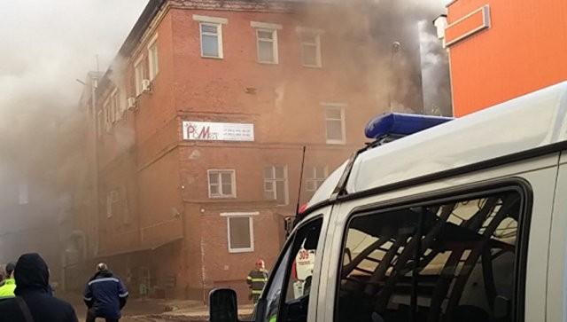 В Подольске один человек пострадал при пожаре в промышленном здании