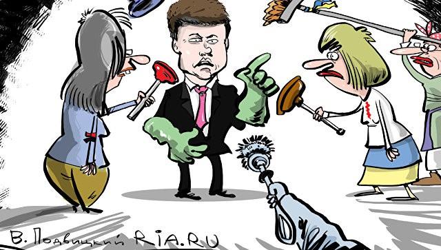 Украинская делегация устроила шоу после вопросов российских журналистов