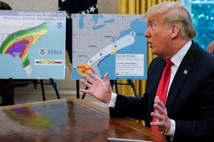 Ураган «Майкл» со скоростью 250 километров в час прошёлся по Флориде