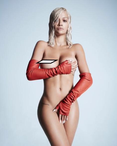 Известная певица Рита Ора показала свое обнаженное тело