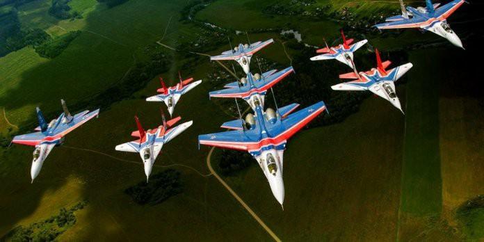 Программа выступления пилотажной группы «Стрижи» в Казани