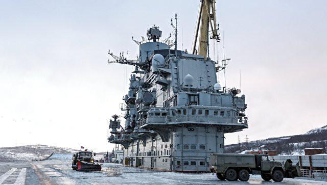 """В Мурманске затонул док, где ремонтировали """"Адмирала Кузнецова"""""""