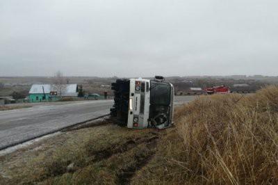 В Тульской области перевернулся пассажирский автобус: один человек погиб