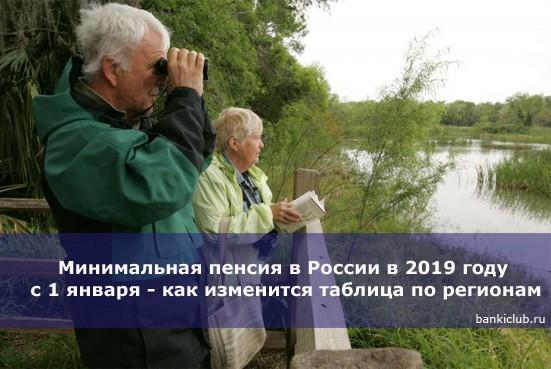 Минимальная пенсия в России в 2019 году с 1 января — как изменится таблица по регионам