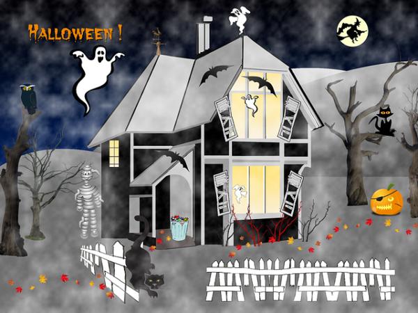 Хэллоуин 2018: оригинальные открытки, картинки с поздравлениями, гифки и анимации