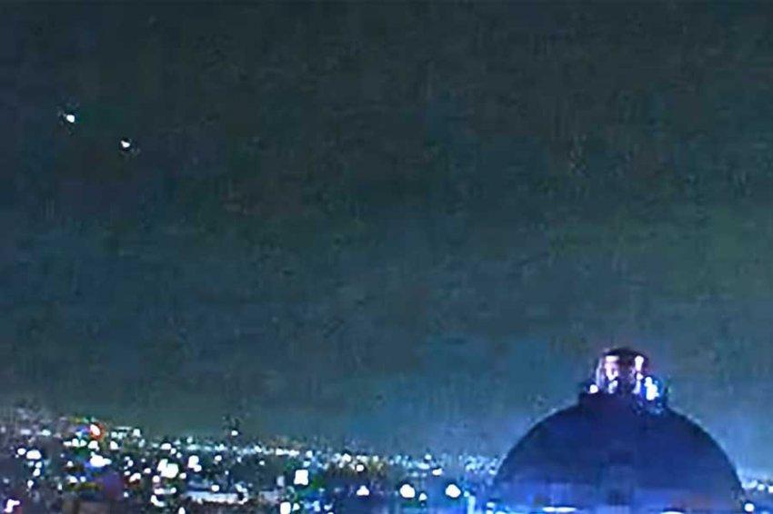 Пирамидообразный НЛО над Мексикой попал на видео