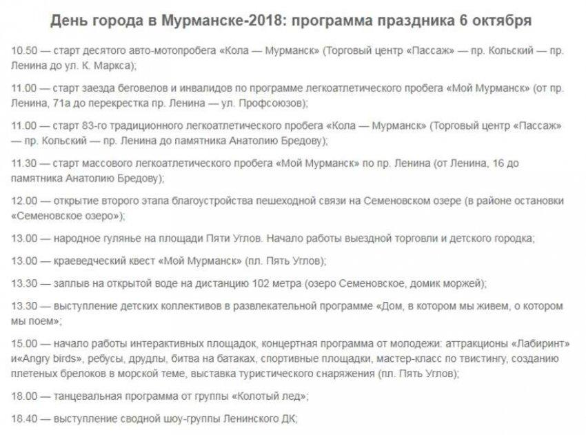 Салют в Мурманске на День города 2018: во сколько и где, программа мероприятий, праздничная афиша