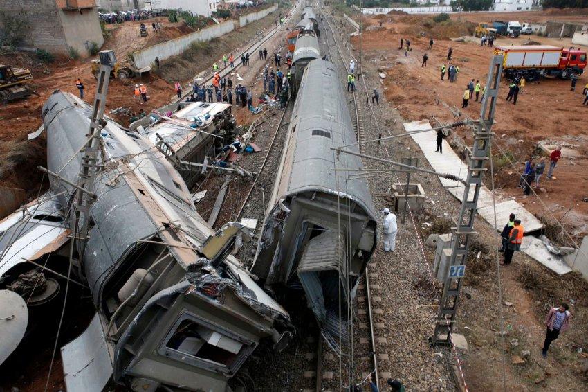 Крушение поезда в Марокко произошло 16 октября: около 10 человек погибло