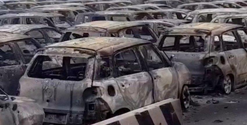 Сотни автомобилей Maserati сгорели во время пожара