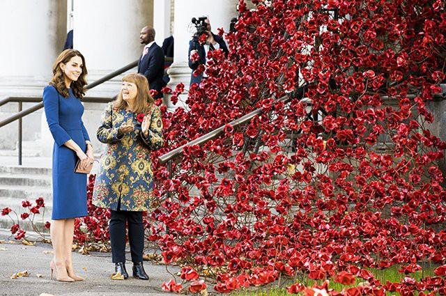 Кейт Миддлтон посетила военный музей и прочла письма своих погибших родственников