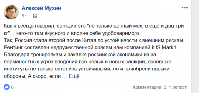 Санкции – это «не только ценный мех»: политолог рассказал, как иностранные ограничения помогли России