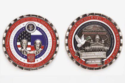 Сделанную в честь встречи Путина и Трампа монету снимут с продажи