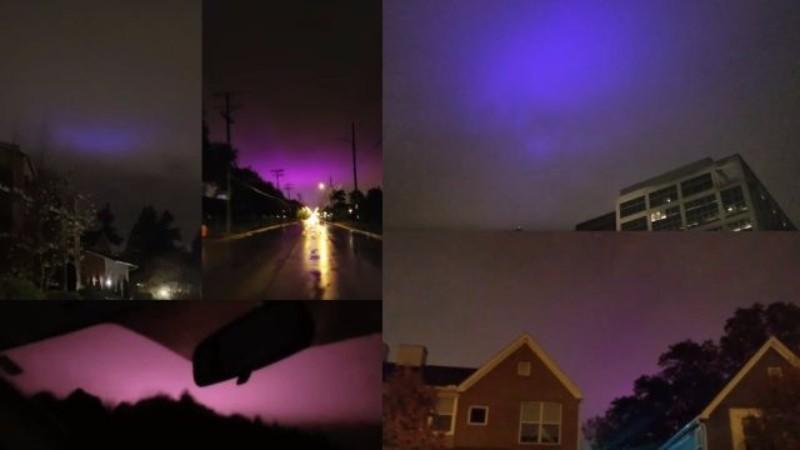 В небе над США все чаще стали видеть фиолетовое свечение