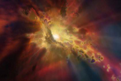 В космосе заметили гигантский фонтан