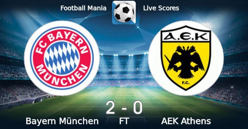 Бавария — АЕК (Афины) 7 ноября, футбольный матч