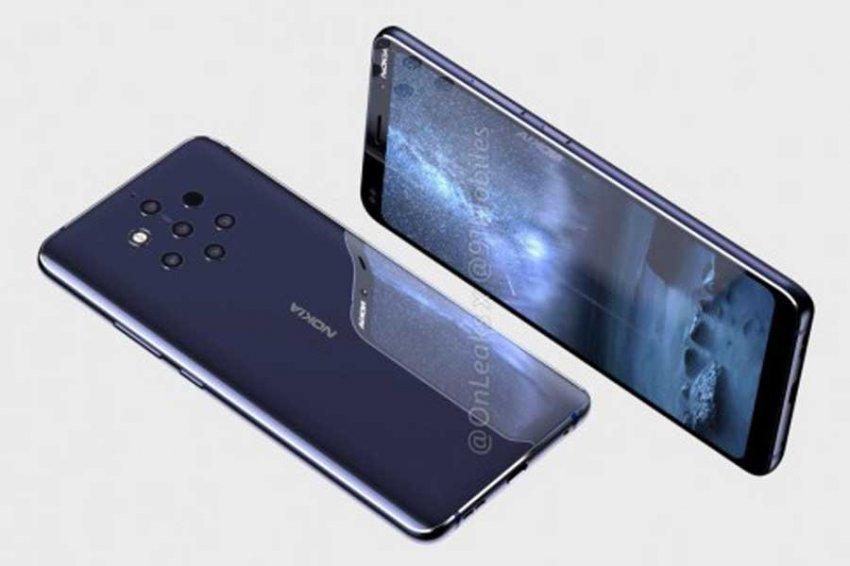 Пятикамерный флагман Nokia 9 показался на видео и рендерах