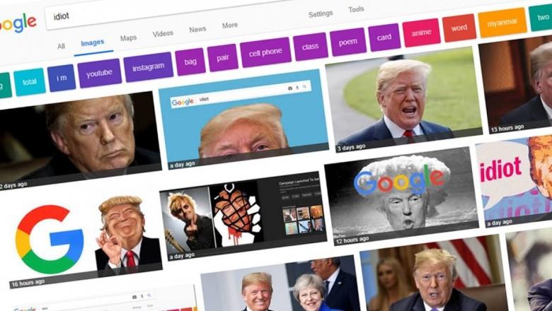 """Поисковая система Google по запросу """"идиот"""" выдает фотографии Дональда Трампа"""