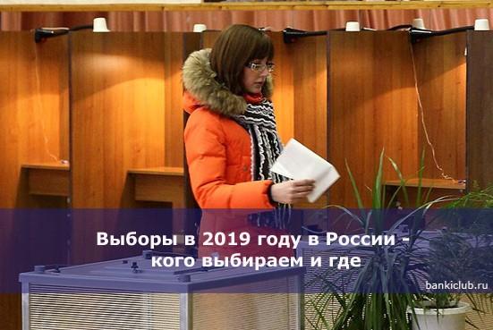 Выборы в 2019 году в России — кого выбираем и где