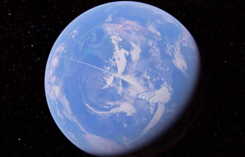 Землю огибают загадочные белые линии