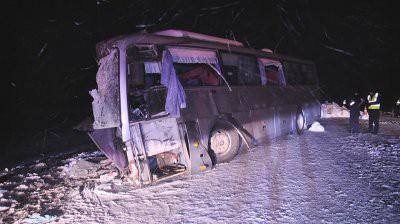 Четыре человека погибли в ДТП с автобусом в Красноярском крае