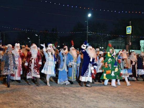 Центр Рязани перекроют из-за парада Дедов Морозов: Парад Дедов Морозов в Рязани 2018
