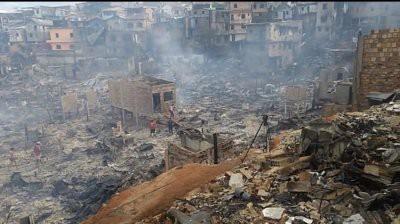 В Бразилии пожар уничтожил около 600 домов