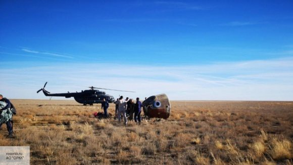 На Землю вернулся экипаж «Союза МС-09»