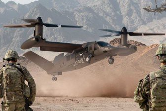 В США начались испытания маневренности нового конвертоплана V-280