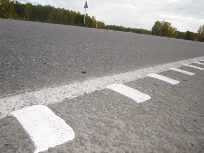 В России на дорогах появится шумовая разметка