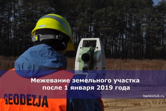 Межевание земельного участка после 1 января 2019 года