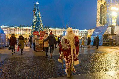 22 декабря состоялась церемония открытия новогодних праздников в Санкт-Петербурге