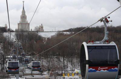 Канатная дорога в Москве на Воробьевых горах стала платной