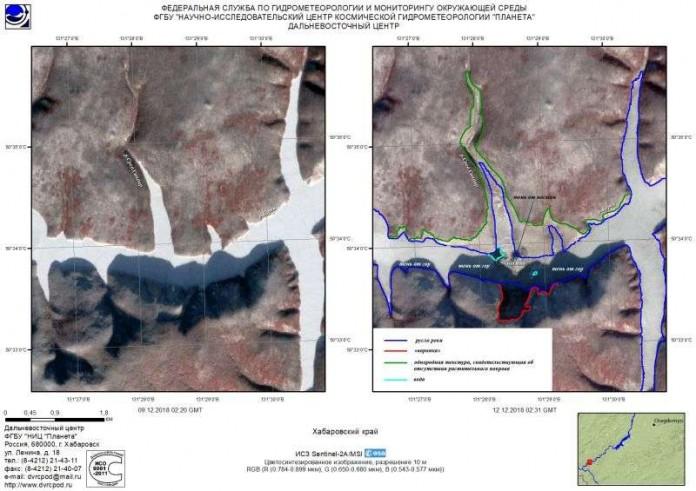 Какую аномалию обнаружил спутник в районе обрушения сопки в Хабаровском крае