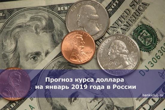 Прогноз курса доллара на январь 2019 года в России