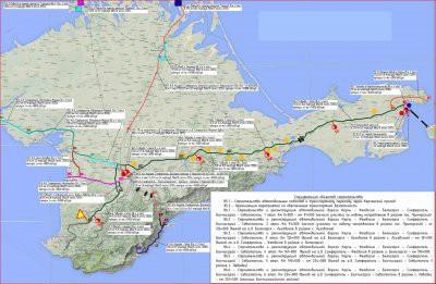 В Крыму продолжается строительство трассы Таврида