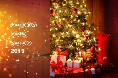 Открытки с поздравлениями на Новый 2019 год, для коллег, друзей, близких, гиф анимации