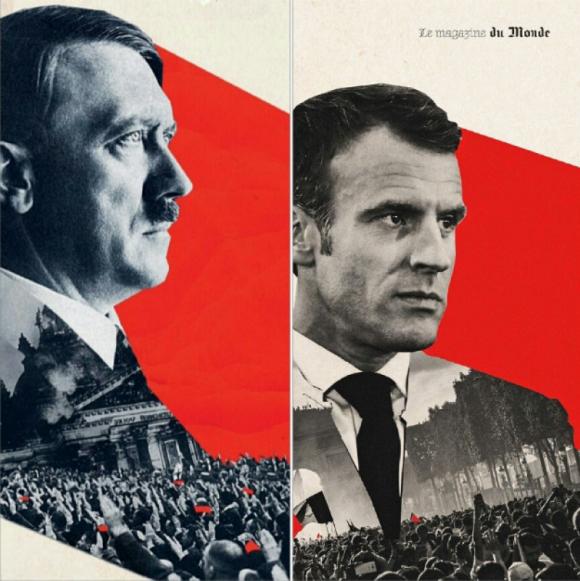 Le Monde извинилась за изображение Макрона, «похожего на Гитлера»