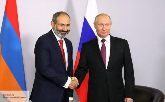 Пашинян и Путин договорились о цене на газ для Армении