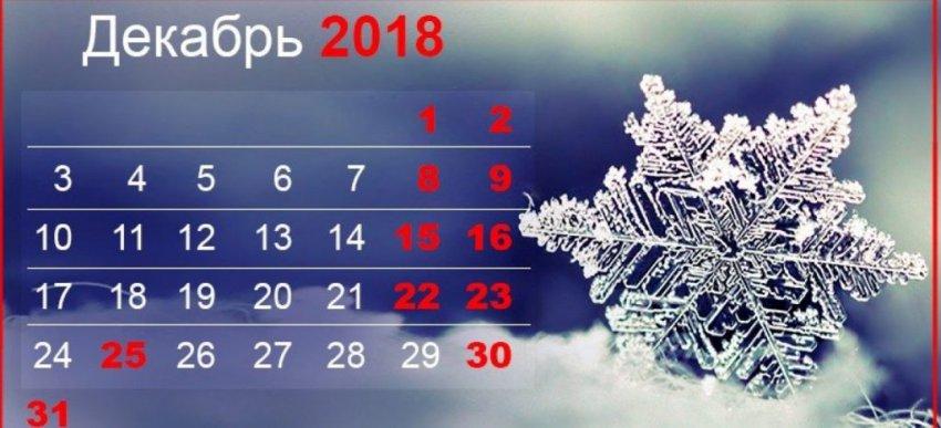 Как отдыхаем в декабре 2018 и январе 2019: выходные на Новый год, точные даты