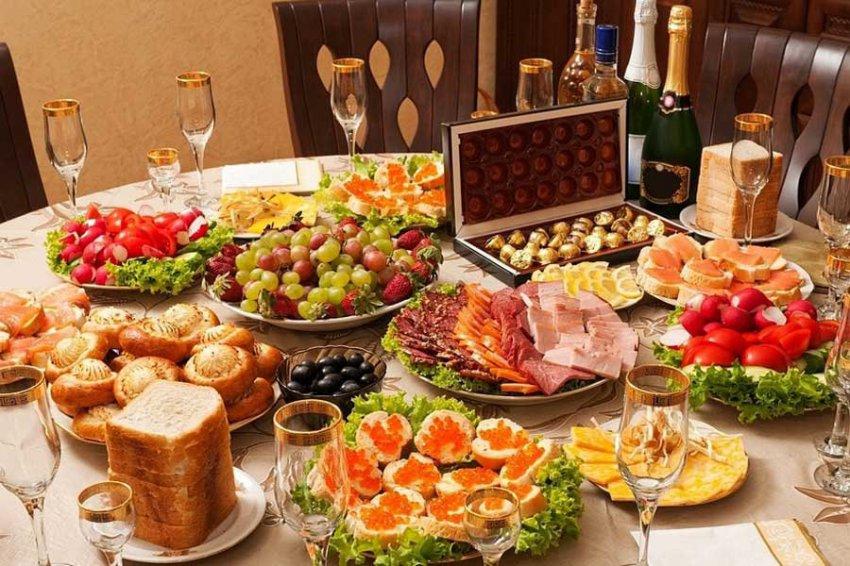 Подсчитана стоимость праздничного новогоднего стола россиян