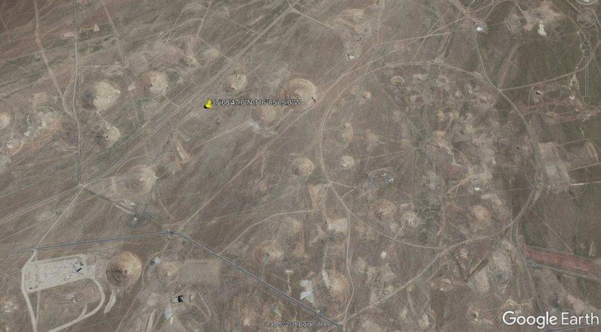 Рядом с Зоной 51 обнаружили странную дыру в земле с непонятным объектом
