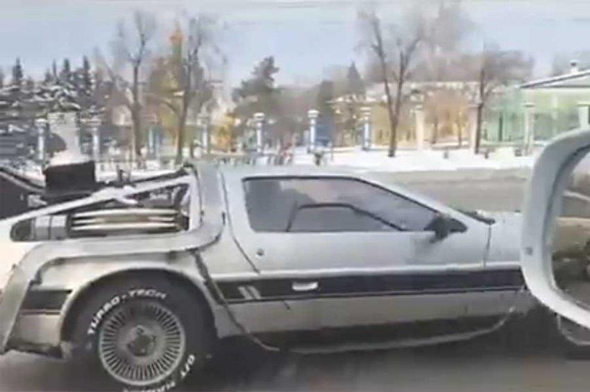 По Ульяновску ездит DeLorean из культового фильма «Назад в будущее»
