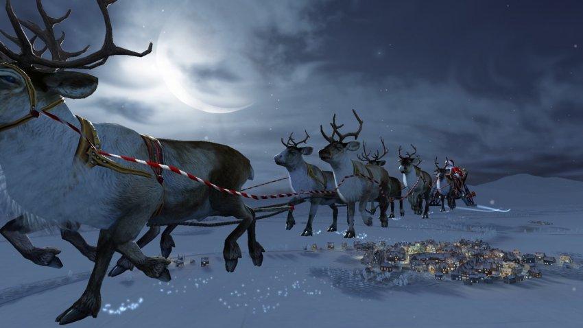 Военные США: над Россией пролетел Санта Клаус