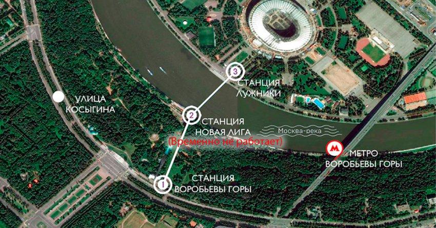 Как работает Канатная дорога в Москве на Воробьевых горах в Новый год 2019