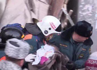 Под завалами в Магнитогорске нашли живого младенца, пролежавшего сутки на морозе в минус 30