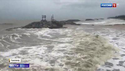 Тропический шторм «Пабук» обрушился на южные курорты Таиланда