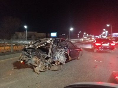 Серьезную аварию устроил водитель Land Cruiser в Алматы