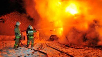 В Кемеровской области при пожаре шесть человек погибли